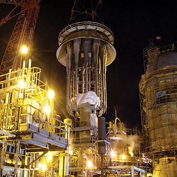 Unit Clearing of process equipment from USA DeBusk